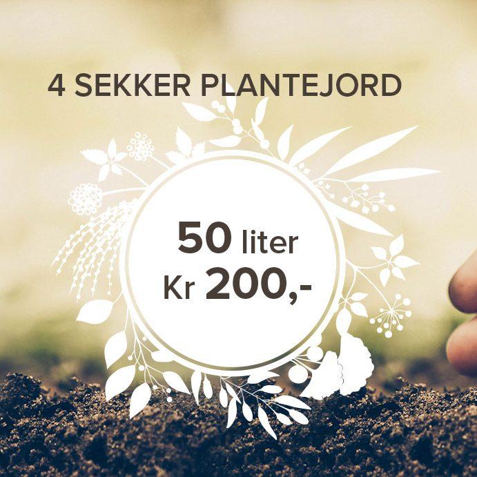 God plantejord på tilbud hos Lier Planteland